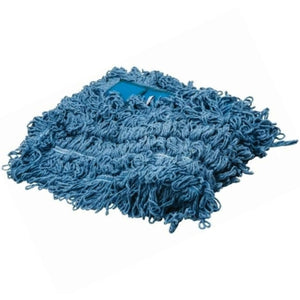 "Greenwood 5"" x 48"" Wide Blue Dust Mop Head Refill (1 Pack)"