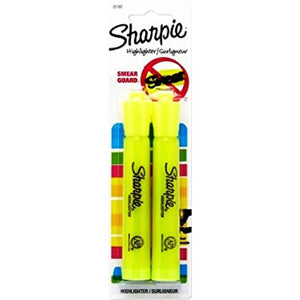 Sharpie Broad Chisel Tip Yellow Highlighter Markers (2 Pack) with Free Local Delivery in Champaign & Vermilion County IL.