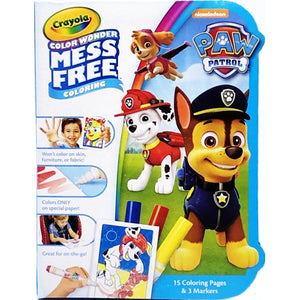 Paw Patrol Color Wonder Mess Free Mini Coloring Pages & Markers (15 Pages + 3 Markers)