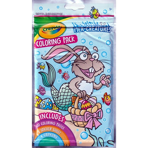 Crayola Mer-Creatures Fun Size Play Pack (Coloring Book, Stickers, Crayons)