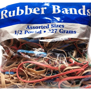 Bazic Assorted Sizes Rubber Bands (8 oz. Bag)