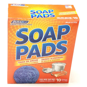Steel Wool Soap Pads (10 Pack) with Free Local Delivery in Champaign & Vermilion County IL.