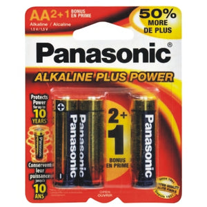 Alkaline Plus Power AA Batteries (3 pk)