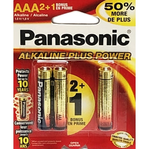 Alkaline Plus Power AAA Batteries (3 pk)