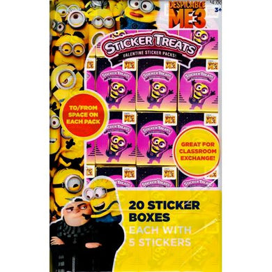 Despicable Me 3 Minions Party Favor Sticker Treats (20 Pack) with Free Local Delivery in Champaign & Vermilion County IL.