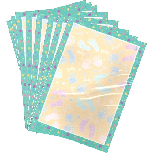 Baby Prints Large Note Cards with Matching Envelopes (8 Pack)