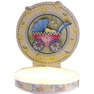 "Baby Shower Baby Carriage Table Decor Centerpiece Party Favor (9"" x 11.5"")"