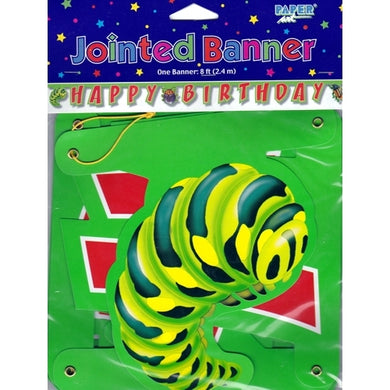 Bugs Everywhere Large Jointed Happy Birthday Party Banner (8 ft)