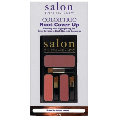 Salon on 5th Ave/NYC Color Trio Root Touch Up (Brown to Auburn Shades) Quick Fix Concealing Powder