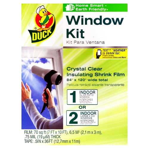 Duck Crystal Clear Insulation Shrink Indoor Window Kit (3 Pack) XL Window & 2 Large Windows