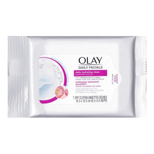 Olay Daily Facials Daily Hydrating Cleansing Cloths w/Grapeseed Extract (7 Pack)