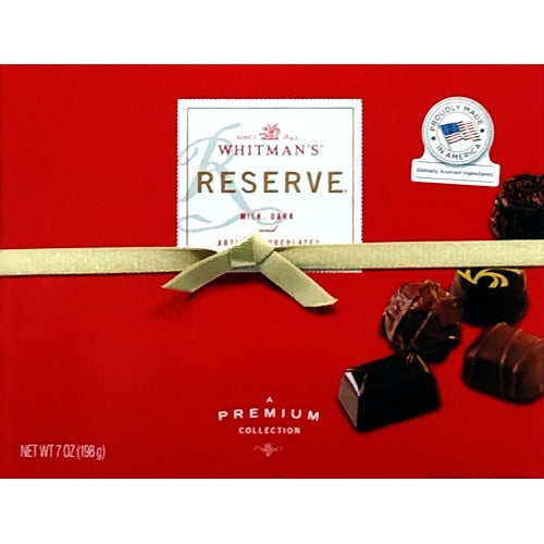 Whitman's Reserve Artisan Chocolates Gift Box (Net Wt. 7 oz.) Premium Collection