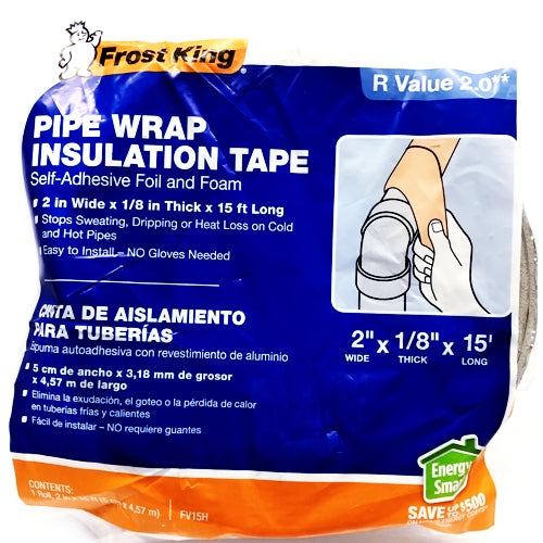 Frost King Self-Adhesive Foil and Foam Pipe Wrap Insulation Tape FV15H (2