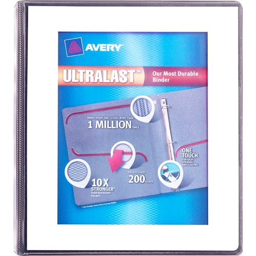 Avery UltraLast Clear View 3-Slant Ring Notebook Binder with One Touch (1