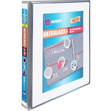 "Avery UltraLast Clear View 3-Slant Ring Notebook Binder with One Touch (1"" Capacity) Select Color"
