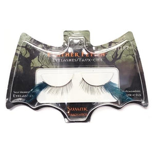 Swank Blue Feather Fetish Eyelashes - 11187 (1 Pair) Self-Adhesive