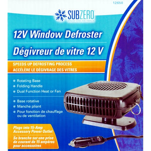 Subzero 12V Window Defroster (Heat or Fan)