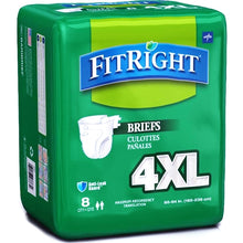 FitRight BariBrief Bariatric Incontinence Briefs - 4XL (8 Pack )