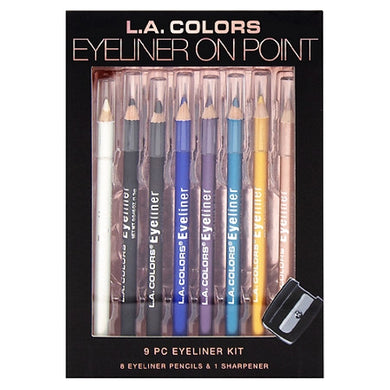 L.A. Colors 9-Piece Eyeliner Pencil Kit (Eyeliner on Point)