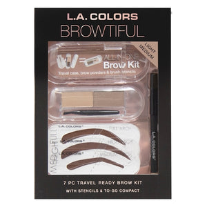 7-Piece Travel Ready EyeBrow Kit (Light Medium)