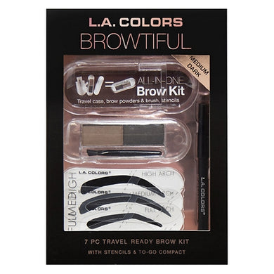 7-Piece Travel Ready EyeBrow Kit (Medium Dark)