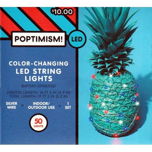 LED String Lights 50 Color-Changing LED Mini String Lights (16 ft. 3 in.) Battery Operated