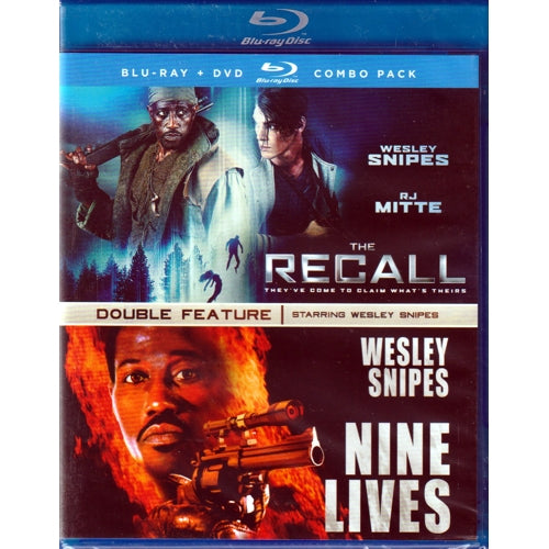 The Recall & Nine Lives - Wesley Snipes Double Feature (Blu-Ray Disc + DVD Combo Pack)