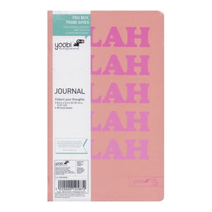 Yoobi Blah Blah Blah Blah Personal Journal Notebook (80 Sheets)