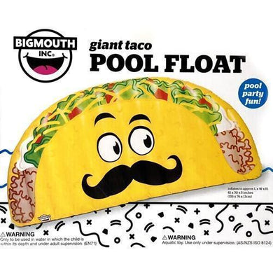 Giant Taco Pool Float (Inflates to 61