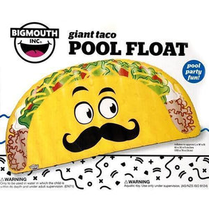 "Giant Taco Pool Float (Inflates to 61"" x 30"" x 5"") 20% to 80% Off at DollarFanatic.com America's Online Dollar Store"