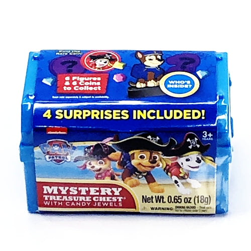 Paw Patrol Mystery Treasure Chest with Candy Jewels (Net wt. .65 oz.)
