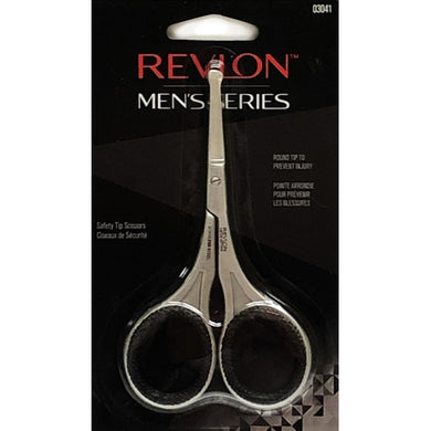 Revlon Men's Series Stainless Steel Safety Tip Scissors (Round Tip)