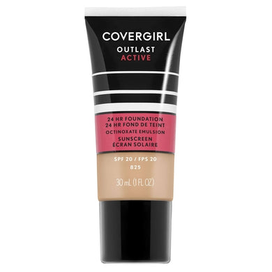 CoverGirl Outlast Active All-Day Liquid Foundation + Sunscreen - 825 Buff Beige (1.0 fl. oz.)
