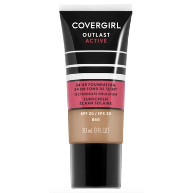 CoverGirl Outlast Active All-Day Liquid Foundation + Sunscreen - 860 Classic Tan (1.0 fl. oz.)