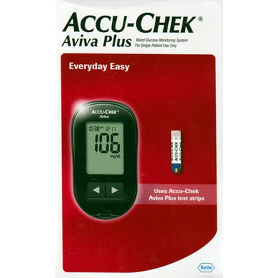 Accu-Chek Aviva Plus Blood Glucose Monitoring System (Includes Meter, Lancing Device, 10 Lancets)