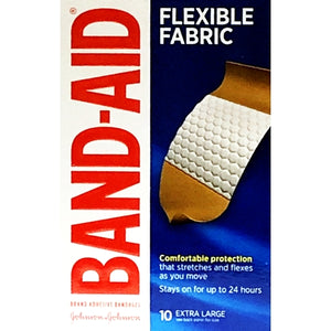 Band-Aid Extra Large Flexible Fabric Adhesive Bandages (10 Pack)