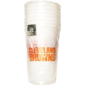 Cleveland Browns Plastic Cups - Frosted (8 Pack.) Large 20 fl. oz. Size