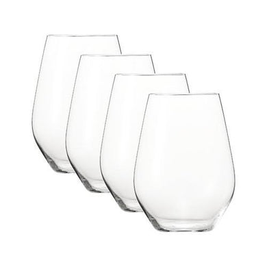 Spiegelau Authentis Casual Stemless Wine Glass 4-Piece Crystal Glass Set (22 oz. ea.)