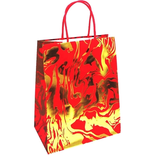 Red/Gold Embossed Gift Bag (9.75