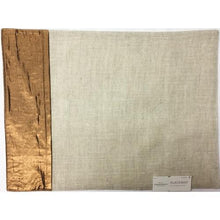 "Cloth Durable Linen Metallic Copper Border Accent Place Mat (14""x 19"") with Free Local Delivery in Champaign & Vermilion County IL."