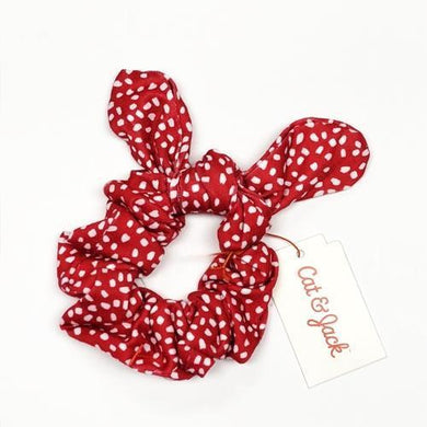 Girl's Red/White Elastic Bow Scrunchie with Free Local Delivery in Champaign & Vermilion County IL.