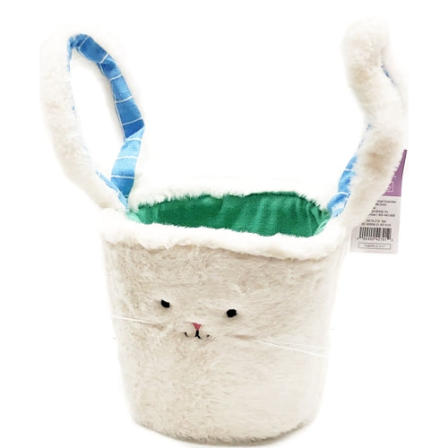 Furry Bunny Basket with Floppy Ears Handle (6