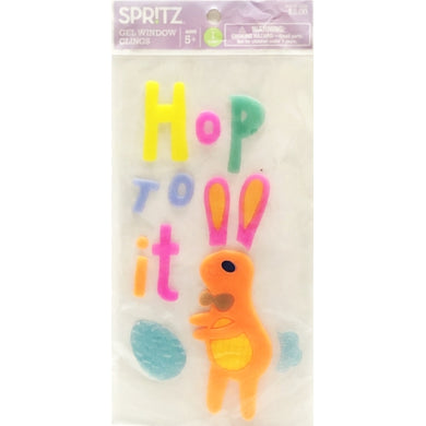 Hop To It Easter Bunny Gel Clings Set