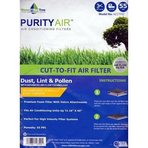 Water Filter Tree Purity Air Cut-to-Fit Woven Air Conditioner Filter (ACCTF02) on Sale up to 80% Off at 5to99.com Daily Deals Dollar Store.