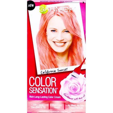 Color Sensation Rich Long-Lasting Permanent Hair Color (California Sunset 7.26 Coral Pink)