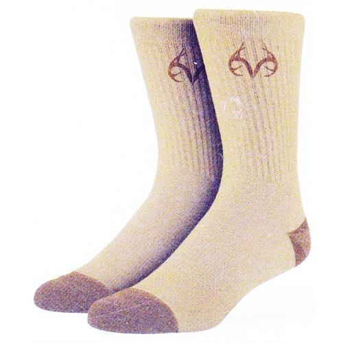 Real Tree Tan Crew Style Socks (One Pair) with Free Local Delivery in Champaign & Vermilion County IL.