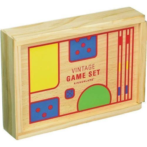4-Game Vintage Wooden Game Set with Free Local Delivery in Champaign & Vermilion County IL.