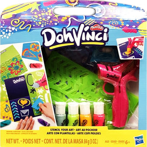 Play-Doh DohVinci Stencil Your Art Drawing Compound Stencil Kit (Net wt. 3 oz.)