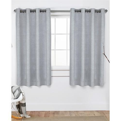 Oxford Embossed Textured Insolated Woven Blackout Grommet Top Window Curtain Panels (52