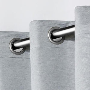"Oxford Embossed Textured Insulated Woven Blackout Grommet Top Window Curtain Panels 52"" x 63"" (2 pc.) with Free Local Delivery in Champaign & Vermilion County IL."
